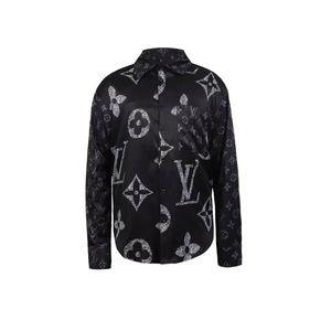19SS delgado apto de las camisas de la medusa de las SS = 2019 3D de oro de la impresión floral de vestir para hombre camisas de manga larga Camisas ocasionales del negocio Ropa Hombres
