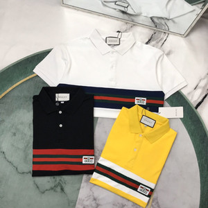 20ss mens designer polo tshirts letter printing Chest letter ribbon Tee print men clothes short sleeve mens shirts tag New