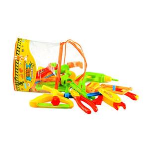Herramientas de reparación para niños Juguetes Juego de herramientas de reparación de simulación Juego de imaginación Juego Llave de martillo Martillo Herramientas de tornillos Juego de juguete para niños