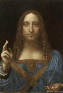 Virginia. Leonardo da Vinci Salvator Mundi alta calidad pintado a mano de la impresión de HD Retrato al óleo del arte clásico en el hogar de la lona Wall Art Deco p04