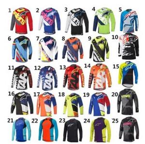 2020 Little Star costume course de descente VTT costume vélo Alpinestars manches longues veste longue T-shirt