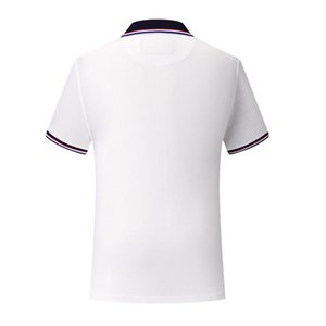 Polo Shirt White SD chongfu 899021Young men's high-end silk cotton striped short-sleeved breathable moisture is not easy to deform