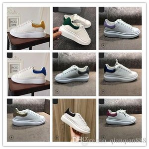 2019 Newest Brand Men's and Women's Sneakers Loafers Fashion Genuine Leather Male Female Zapatos Casual Driving Shoes 35-44