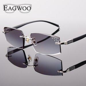 EAGWOO Rimless Sunglasses MR-8 óculos de sol lentes de prescrição vidros da cor lentes para Anti Luz Solar Glare Anti UV 258038 Nova