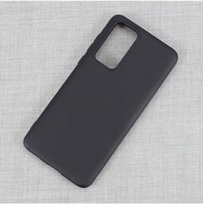 Pour Samsung Galaxy S20 plus A11 A21 Xiaomi Mi Note 10 Huawei P 2020 Matte à puce en caoutchouc noir TPU Cell Phone Case Cover