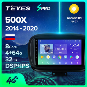 TEYES SPRO For 500X 2014-2020 Car Radio Multimedia Video Player Navigation Gps Android 8.1 No 2din 2 din dvd car dvd
