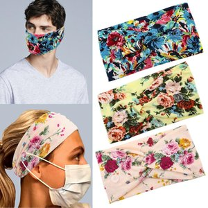 Women Men Face Mask headband holder New Arrival Sports Headbands With Button Ear Savers Headband For Face cover