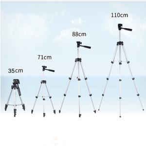 Professional 4 Sektionen faltbare Kamerastative Halter-Standplatz Fluidkopf Stativ Stabilisator Aluminium mit Telefon-Klipp-Halter