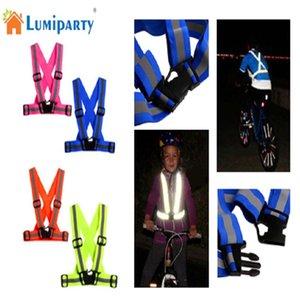 Mounchain Unisex multiuso reflexivo colete ajustável LED Flash bicicleta visibilidade correndo de bicicleta reflexivas coletes de segurança colete