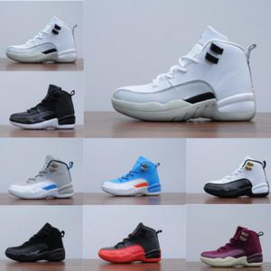 12s infantile Bordeaux grippe jeu pour enfants Chaussures de basket-loup gris bleu blanc université milieu en bas âge Sneakers Garçons Filles Enfants Formateurs