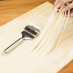 Stainless steel Noodle Lattice Roller Docker Dough Cutter Pasta Spaghetti Maker For Kitchen Cooking Tool