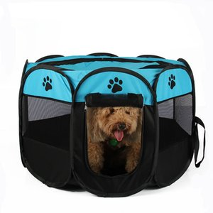 Pet Dog Cat Playpen Cage Crate - Portable Folding Exercise Kennel - Indoor & Outdoor use