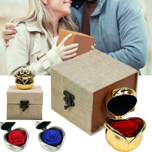 Exclusivo eterna Rose con la caja de la belleza y la bestia Rose románticos regalos de San Valentín Navidad Presentes del regalo de vacaciones