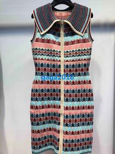 женщины девушки вязать жилет рубашка платье стрейч вискоза геометрические лоскутное трикотажные труба мини-юбки высокого класса моды роскошные платья