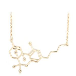Yeni Kimyasal Moleküler Yapısal Kolye alaşım DNA moleküler kolye kolye kadın erkek moda takı altın siyah