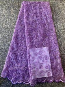 mor payet dantel kumaş baskı kumaş pileli şifon 2019 kadın nigerian dantel kumaşlar 5 kilometre FCD43