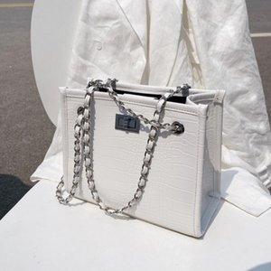 Crocodile pattern Square Crossbody bag 2020 New High-quality PU Leather Women's Handbag Chain Shoulder Messenger Bag