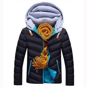 JAYCOSIN 2019 зима QUILTED мужской Parker теплый толстый хлопок пальто мода мужская куртка молодость мальчика ветровка пальто