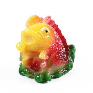 Résine créative changeant de couleur Belle figurine de poisson rouge, artisanat chinois Tea Pet ,, Accessoires de thé, Feng Shui Home