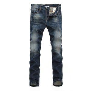 Calça azul dos homens Denim jeans Calças de buraco Novo produto 2019 Preços de atacado moda Pretty Cool Flower metal nailnine