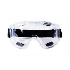 Şeffaf Koruyucu Gözlük Anti-Sıçrama Darbeye Dayanıklı İş Güvenliği Koruyucu Gözlük İçin Carpenter Rider Göz Koruyucu Ayarlanabilir Bant