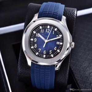 Горячие продажи Часы Высокого Качества 39 мм Автоматические 2813 Механизм стальной корпус удобный Синий резиновый ремешок из нержавеющей стали застежка Мужские часы