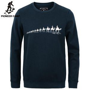 Pioneer Camp nouvel automne hommes mode hiver hoodies casual coton pull-over épaississent survêtement mâle polaire hommes sweat-shirt ras du cou
