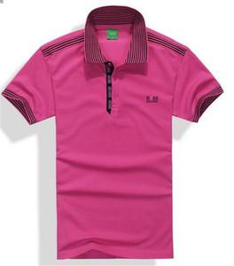 Бренд Лето Поло топы вышивка Мужские рубашки поло мода рубашка мужчины женщины High Street повседневная топ тройники 824-4 UP49 GPBD NAW1 QBRU VFM6 21LR