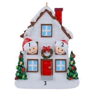 무료 맞춤형 - 2 3 4 5 Christmas House Resin 맞춤형 장식 기념일 선물 집 장식