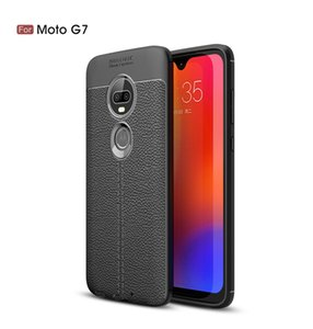 Shockproof Fall für Motorola Moto G8 G7 G6 Power One Makro G8 Plus-One Vision Litchi Ledertasche für Motorola Moto One Power Z4 Z3