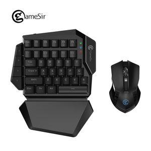 [NEW] GameSir Z2 E-Sport-Spiel-Wireless-Tastatur und Maus kombiniert GM180 2,4 GHz Einhändige Blau Schalter Tastatur für FPS pubg Spiele T191227