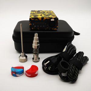 Titanyum Nail E Dab Tırnak Kutusu Kiti Electic Electri Dab Çiviler Enail Komple Setleri Sıcaklık Kontrolör Box10 ile Yeni E Tırnak