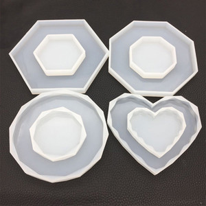 Octagon Heart Rhombus Silicone Molds DIY Silicone Resin Craft Mold Jewellery Making Epoxy Resin Craft Polymer Clay Mud Board