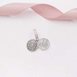 Otantik 925 Gümüş Boncuk Aşk Yoga kolye Charm Charms Avrupa Pandora Stil Takı Bilezikler Kolye 796205EN23 uyar