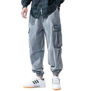 iiDossan Hip Hop de tamanho grande Jeans Men Pants 2020 japoneses Streetwear Harajuku Joggers Jeans Men Baggy Pockets Alta Qualidade Denim