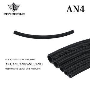 PQY - 4 AN Pro's Lite Black Nylon Racing Hose Fuel Oil Line 350 PSI 0.3M PQY7311-1