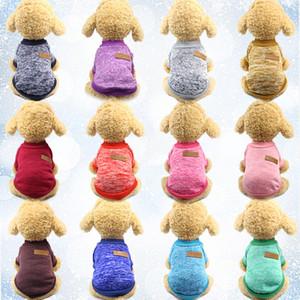 뜨개질 개 의류 의류 가을 겨울 애완 동물 강아지 스웨터 코트 의류 클래식 후드 방어 강아지 고양이 스웨터 강아지 셔츠 HH9-2077