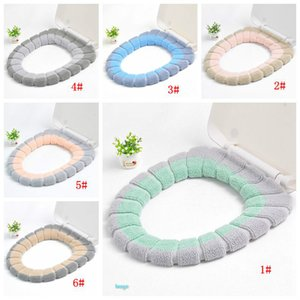 30 centímetros de Banho WC Pad pode ser lavado macio isolamento Pad capa de almofada Inverno Quente Toilet Seat Cushion Bath Acessórios 9 cores DBC BH3480
