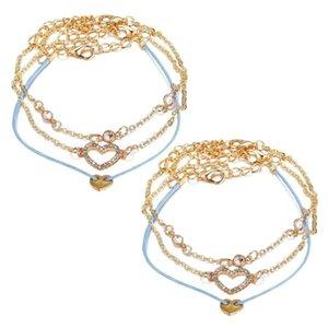 6pcs Bracelet Set Delicate Wristband Fashion Bangle Bracelet Adjustment Jewelry Wrist Chain For Woman Lady