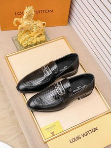 Yeni erkek İngiliz gündelik iş moda Düz taban elbise deri ayakkabı moda Nedensel kıyı