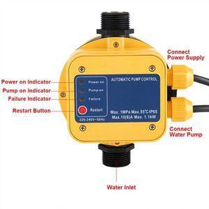 Freeshipping Автоматический Водяной Насос Реле Давления Электрический Водяной Насос Регулятор Давления С Манометром Для Воды