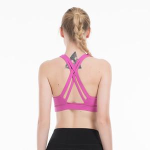 Cruz Top Sport Bra Push Up High Impact Mulheres de Fitness Workout Bra Esporte underwear sutiã Top For Women desgaste ativo
