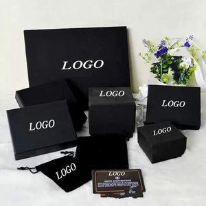 Фирменное наименование Мода черного ожерелье Box Pearl свитер цепь брошь браслет кольцо серьга Jewelry Box Free Shopping