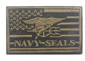 3D تصحيح التطريز USA الأمريكية البحرية العلم الأمريكي المعنويات تصحيح التكتيكية شعار يزين الأختام الشارات المطرزة الرقع HookLoop