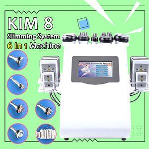 2020 KIM 8 Tragbarer 6 1 in Cavi-lipo Ultraschall Kavitation Maschine 40K Cavitation RF Multipolare Tripolar Vacuum Laser Schlankheits-Maschine