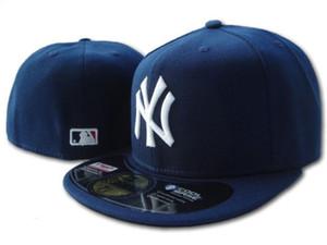 Toptan Yüksek Kalite Erkekler new york NY Spor Takımı Gömme Saha Tam Kapalı Tasarım Boyutu 7- boyutu 8 Gömme Beyzbol Şapka Düz Brim Caps