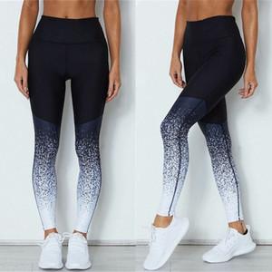 Tha iyi 18 kadın Seksi moda pantolon Kadın spor yoga egzersiz jimnastik degrade pantolon spor kıyafetleri spor tayt