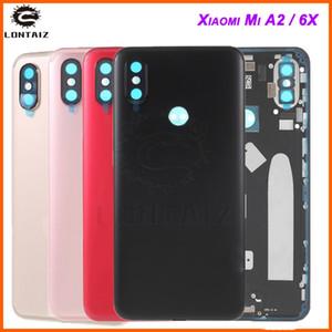 Original pour Xiaomi Mi A2 Batterie Couvercle Arrière Logement En Métal Porte pour Xiaomi Mi 6X Caméra Verre Lentille Réparation Pièces De Rechange