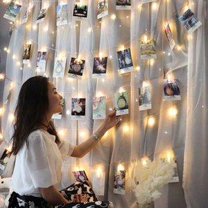 Photo Hanging Clips Guirlande Photo Collage affichage LED Twinkle lumière avec clip Accueil Chambre Décoration murale pour Picture Card