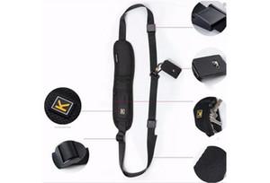Seule épaule noire Sling Ceinture sangle pour appareil photo SLR numérique DSLR rapide Rapid K Lettre